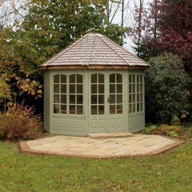 10' x 10' cedar Hopton with coloured external finish