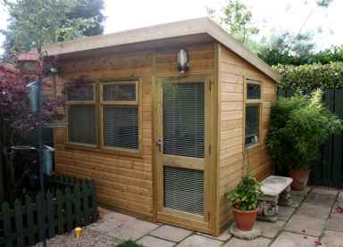 10' x 8' pressure treated Arley Pent with standard windows and doors