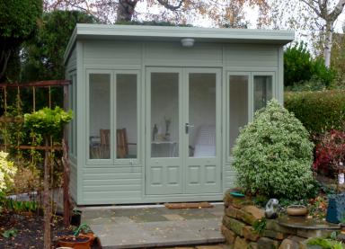 10' x 8' cedar Stretton with coloured external finish