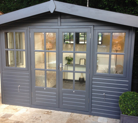12' x 10' Arley Apex with painted colour finish.