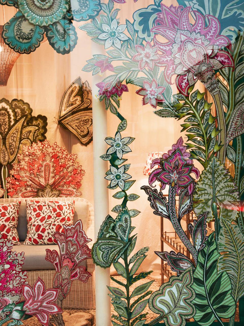 shop window display by Natasha Hulse textile artist