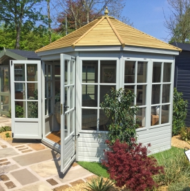 Gazebo with external painted finish