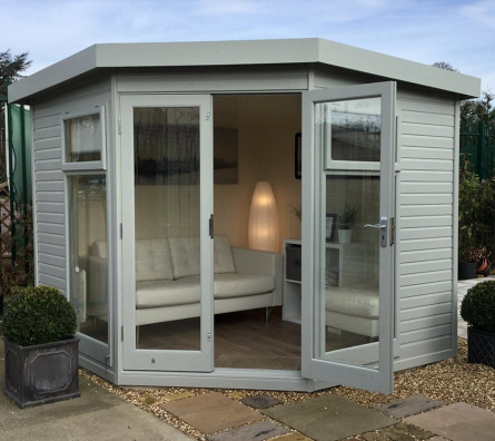 The Studio Corner Garden Studio by Malvern Garden Buildings