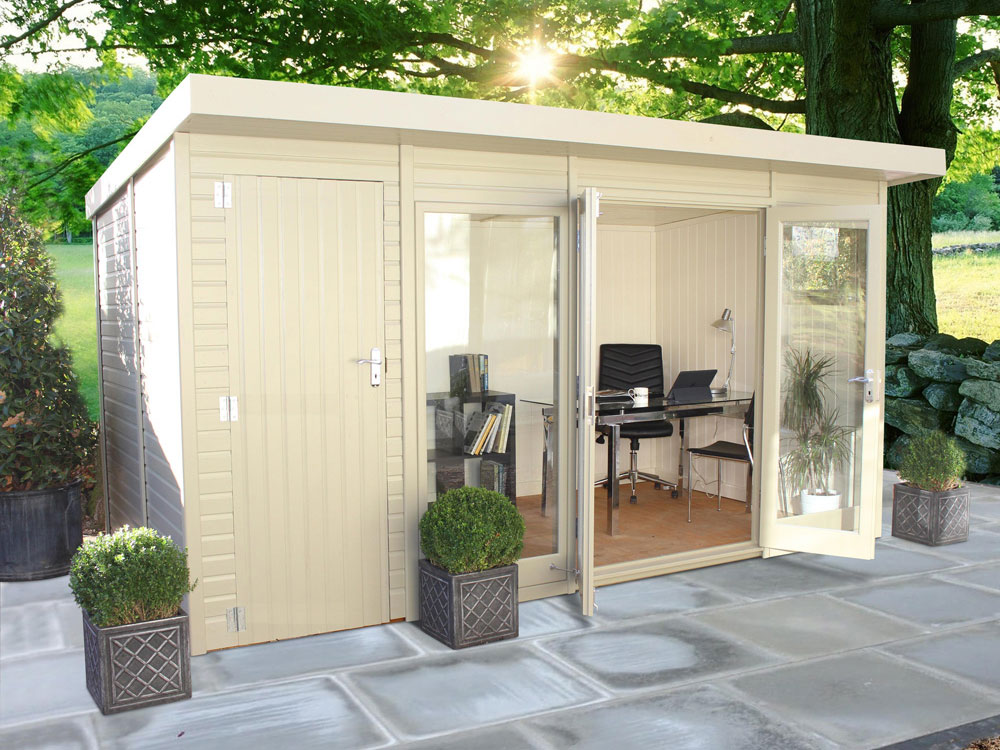 The Studio Pent Shoffice Garden Studio by Malvern Garden Buildings