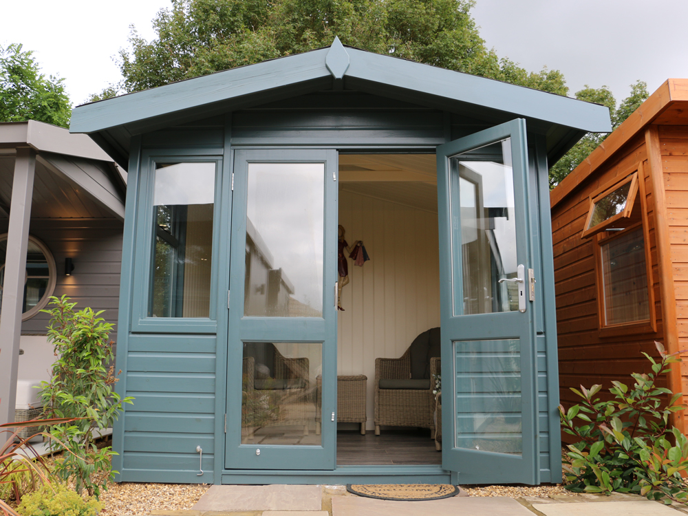 Arley Studio Apex garden office by Malvern Garden Buildings