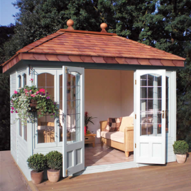 10' x 8' Ashton with square leaded windows and doors