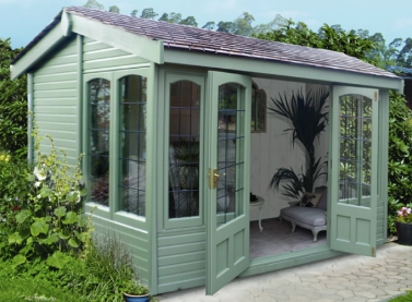 10' x 8' Astwood with square leaded windows and doors