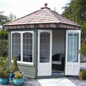 8' x 8' Clifton with square leaded windows and doors