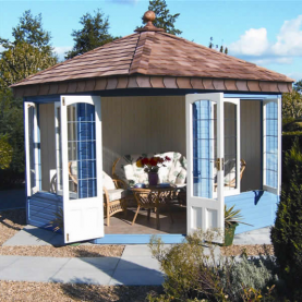9' x 9' Clifton with square leaded windows and doors