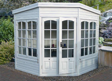 8' x 8' Harwood with Georgian windows and doors