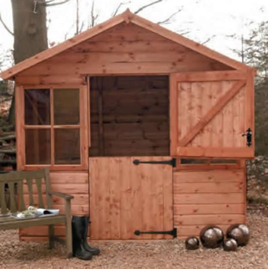 8' x 6' deal Ludlow with stable door