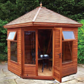 8' x 8' cedar Martley with cedar slatted roof