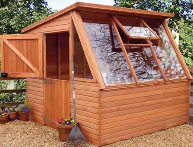 8' x 8' cedar Solar with stable door