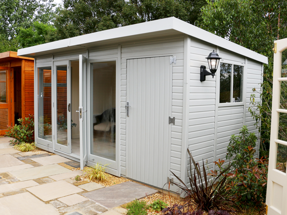 Studio Pent garden office by Malvern Garden Buildings