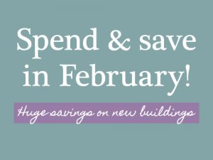 February offer: Spend & save!