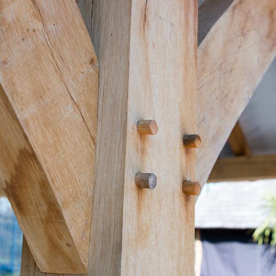 Oak structure pegs