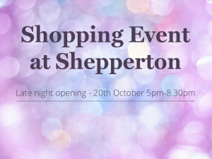 Christmas shopping event at our Shepperton Showsite