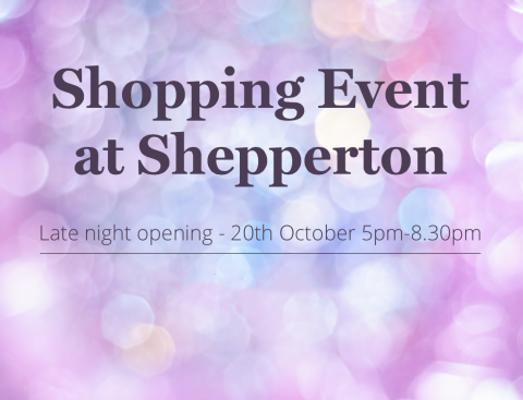 Late night Christmas shopping event Shepperton showsite