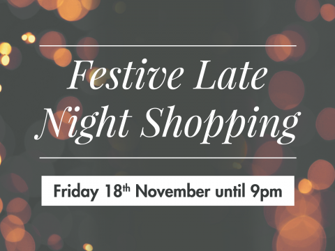 Festive Late Night Shopping at Staffordshire Showsite