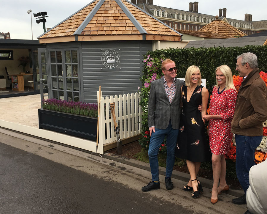 BBC Radio 2 presenters at RHS Chelsea Flower Show 2017