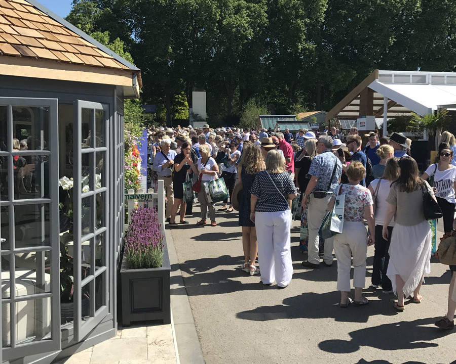 Visitors at RHS Chelsea Flower Show 2017