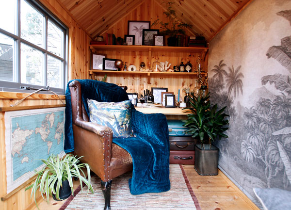 Interior of the Kew Darwin premium garden shed by Malvern Garden Buildings