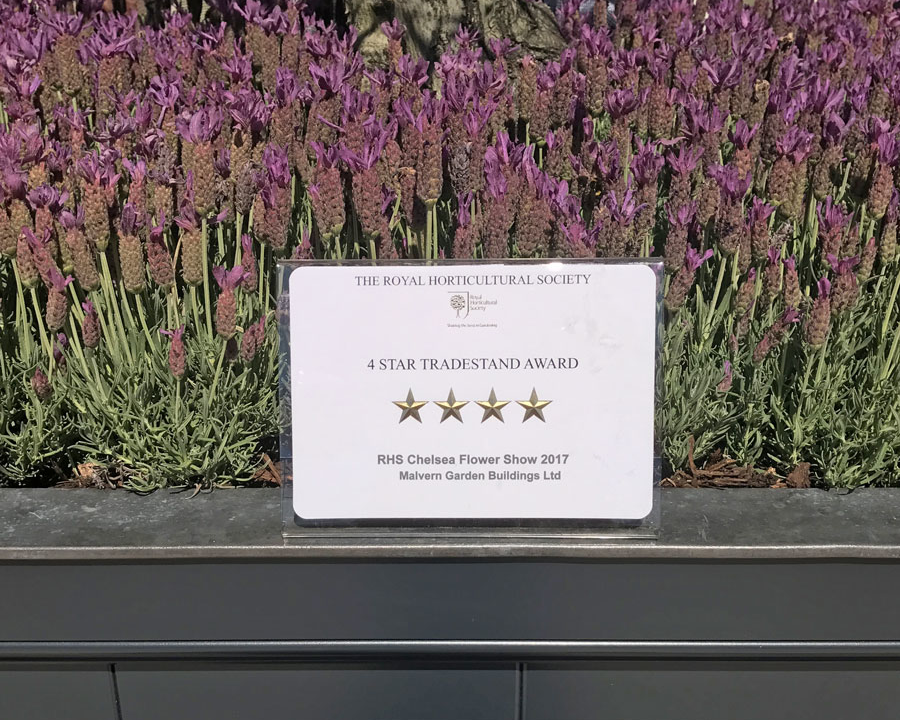 4 Star Award at RHS Chelsea Flower Show 2017