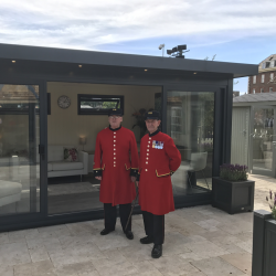 Chelsea Pensioners with The Charford