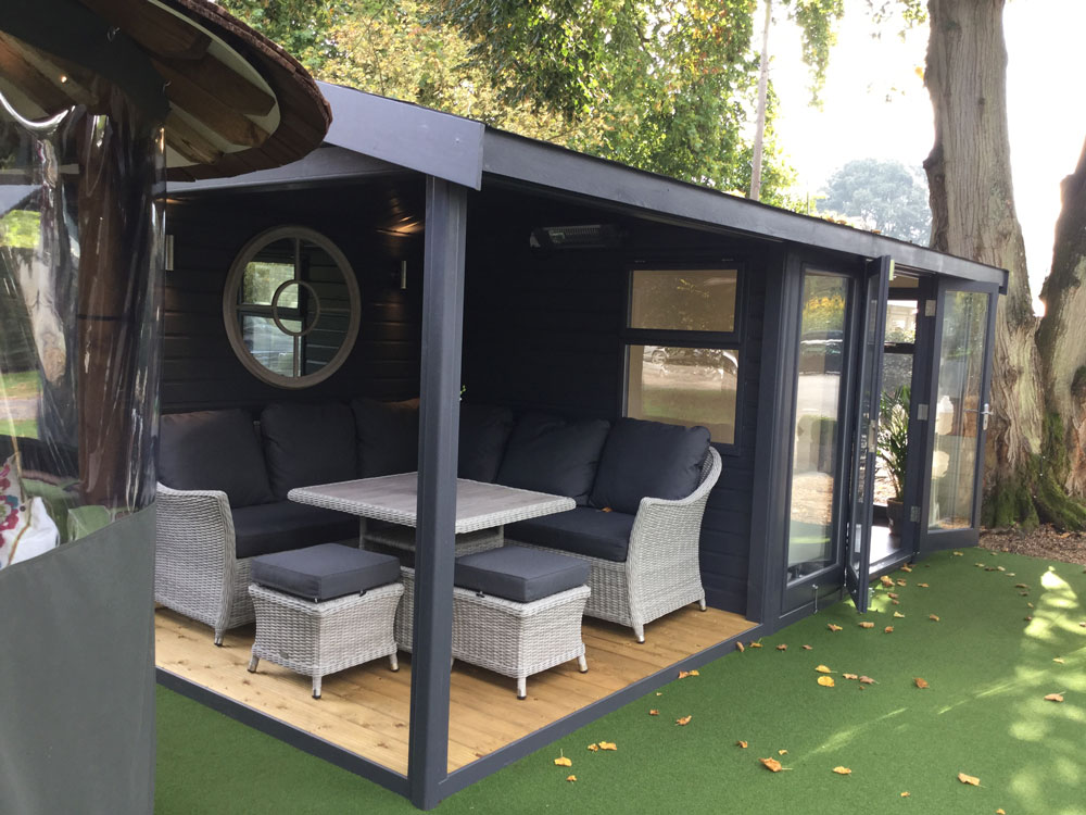 Garden office at Toad Hall new showsite area Malvern Garden Buildings