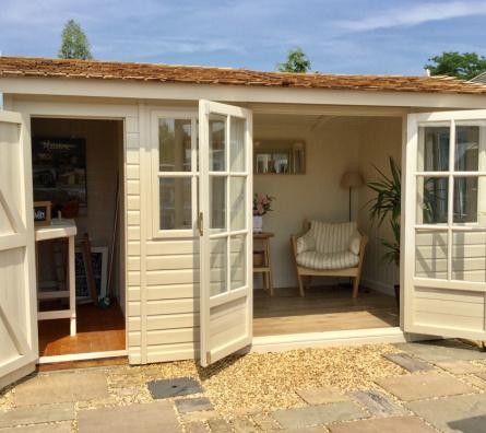 Pavilion Roof Arley Garden Studio by Malvern Garden Buildings