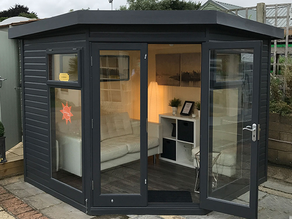 The Studio Corner Garden Studio by Malvern Garden Buildings