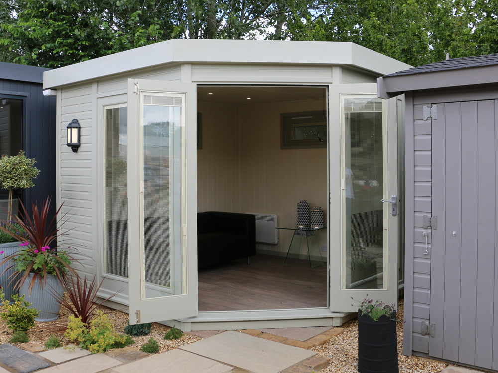 Studio Corner garden office by Malvern Garden Buildings