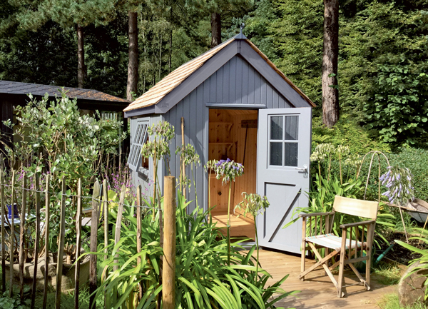 The Kew Darwin premium garden shed by Malvern Garden Buildings