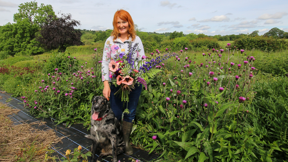 Pam Moseley of Quirky Flowers on her flower farm