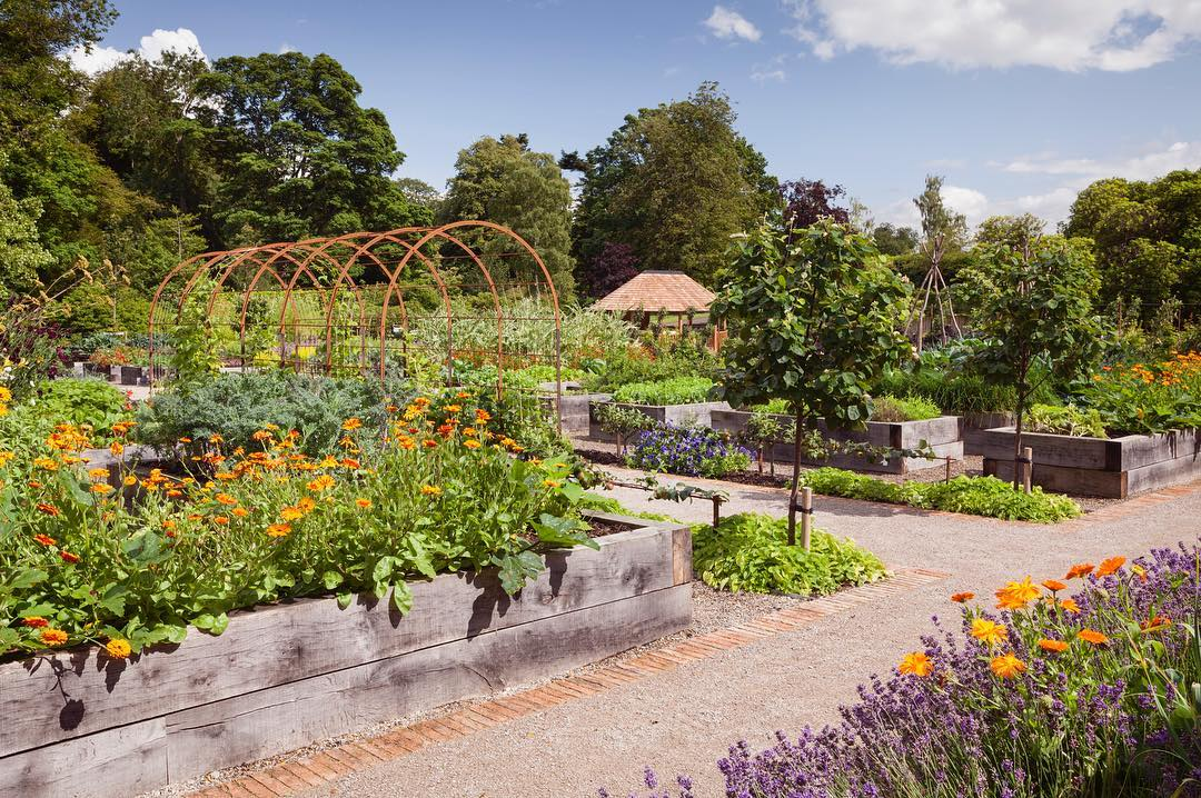 The Kitchen Garden at Rudding Park, with a Breeze House nestled in the corner. The perfect spot for alfresco dining.