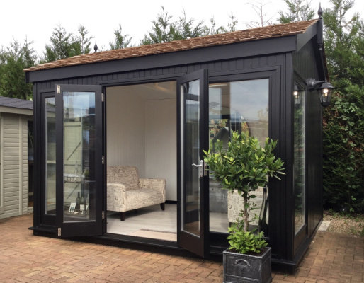 Hanley Apex Garden Office ex-display garden building available at Malvern Garden Buildings, Shepperton, Greater London