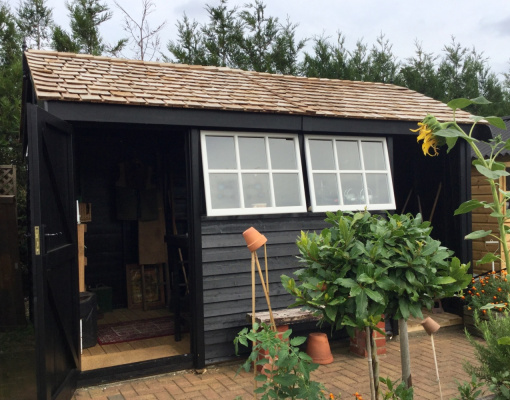 Holt Barnstyle Garden Shed ex-display garden building available at Malvern Garden Buildings, Shepperton, Greater London