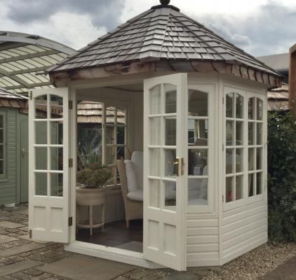 Hopton Garden Room ex-display garden building available at Malvern Garden Buildings, Shepperton, Greater London