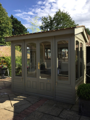 Cedar Astwood Garden Building with Willow Green painted finish