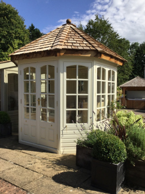 Garden summerhouse with Georgian windows