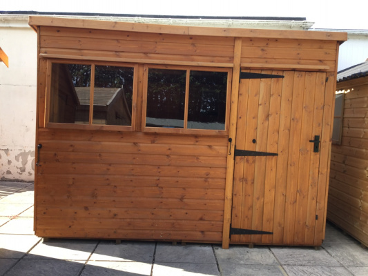 Heavy duty shed with pent roof