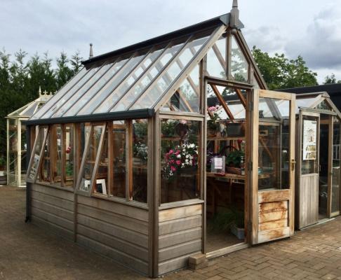Hyde Hall Garden Greenhouse ex-display garden building available at Malvern Garden Buildings, Shepperton, Greater London