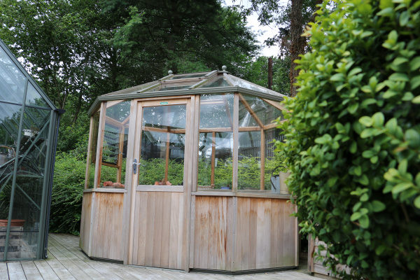 Alton Octagonal Greenhouse ex-display garden building available at Malvern Garden Buildings, Leek, Staffordshire