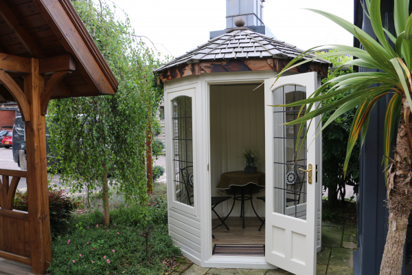 Cedar Hopton Garden Room ex-display garden building available at Malvern Garden Buildings, Leek, Staffordshire