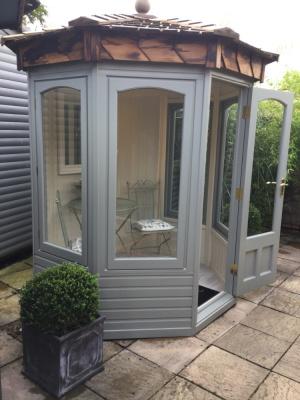 Hopton Summerhouse ex-display garden building available at Malvern Garden Buildings, Lacock, Wiltshire