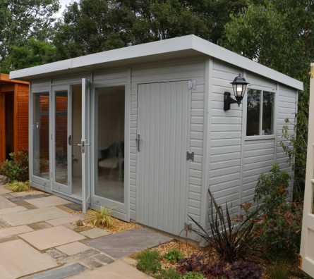 Cedar Studio Pent with shed Garden Studio ex-display garden building available at Malvern Garden Buildings, Buckingham, Buckinghamshire