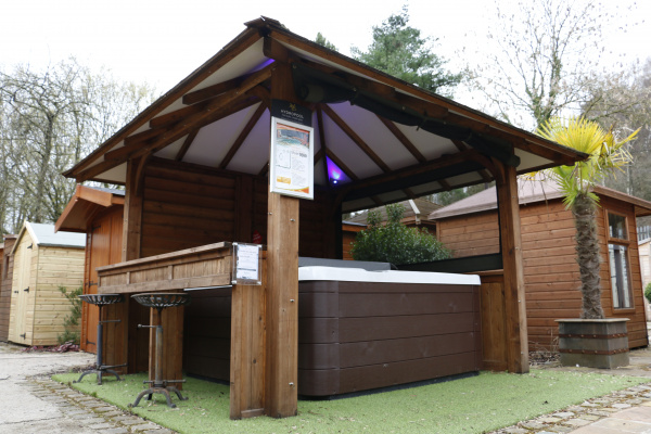 Hot Tub Cover ex-display garden building available at Malvern Garden Buildings, Leek, Staffordshire