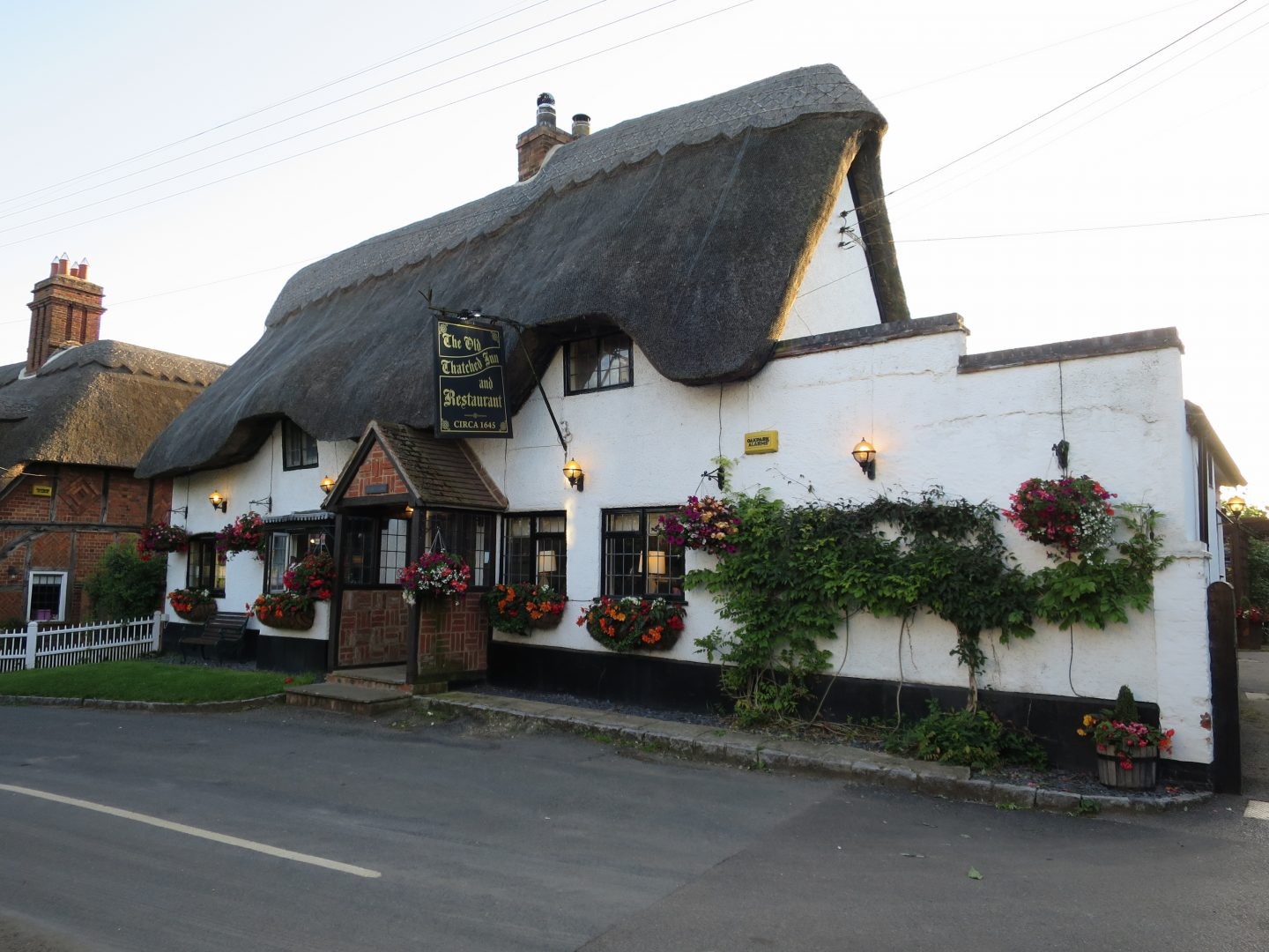 Old Thatched Inn, Adstock, Buckinghamshire. Staycation Inspiration by Malvern Garden Buildings