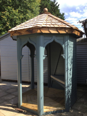 Open sided timber garden gazebo