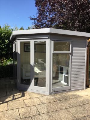 Studio Corner garden building with grey painted finish